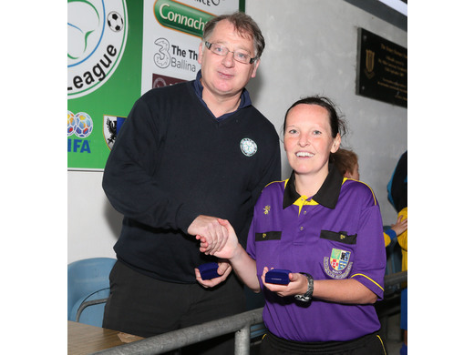 Ann Sweeney makes history as she referees the McDonnell Cup Final