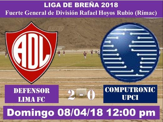 Defensor Lima FC 2 Computrónic 0