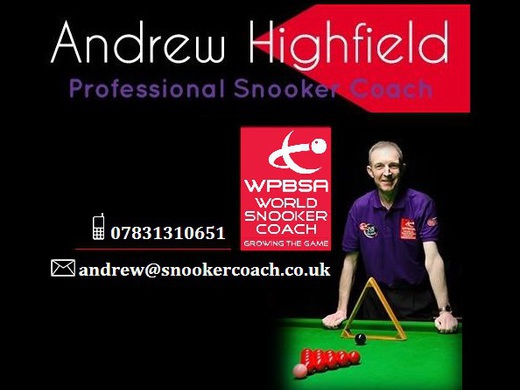 ANDREW HIGHFIELD SNOOKER COACH