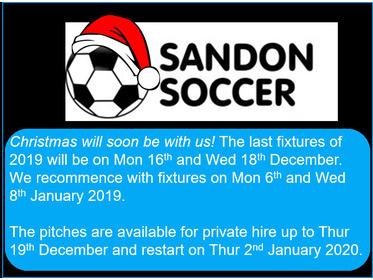 Sandon Soccer - Christmas
