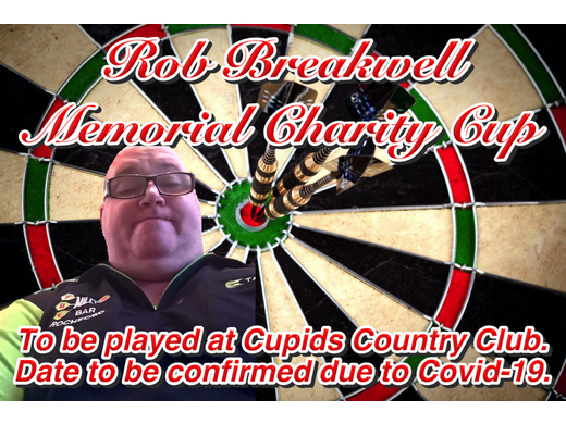 Rob Breakwell Memorial Charity darts competition.