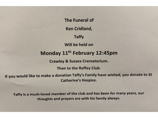 Taffy's funeral arrangements