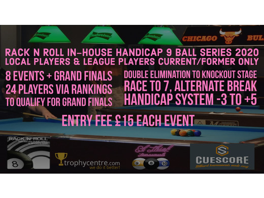 Rack N Roll In-House 9 Ball Handicap Series 2020 Event 1