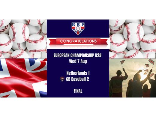 GB Baseball U23 Win against the Netherlands