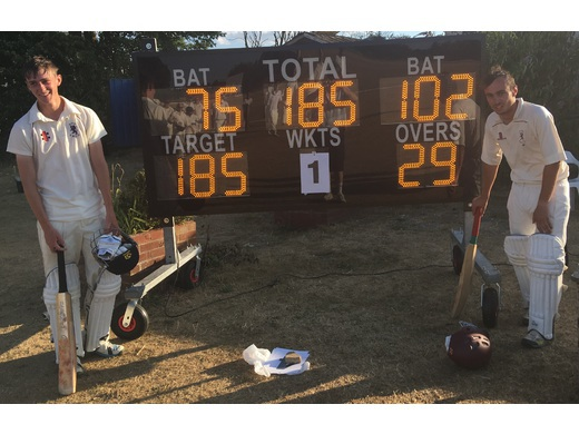 James Kemp's maiden century off 79 balls with 13 fours and 1 six. Bravo !