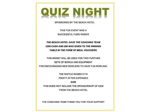Quiz night - 2018