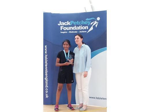 U13 Girls Winner Jack Petchey London final                tchey