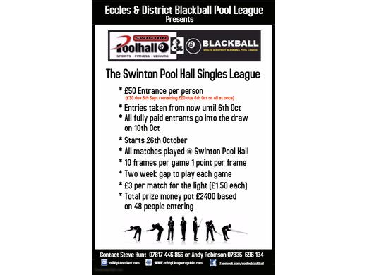 Swinton Pool Hall Singles League 2018