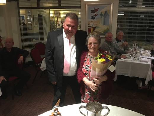 Ann Ellcott, Thank you for help with the club throughout the season