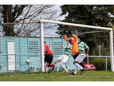 Ballyhaunis scoring against Castlebar Celtic B - Photo Ciara Buckley