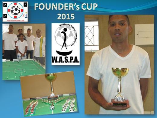 KEGAN VAN DER MERWE WINS THE 2015 FOUNDER's CUP