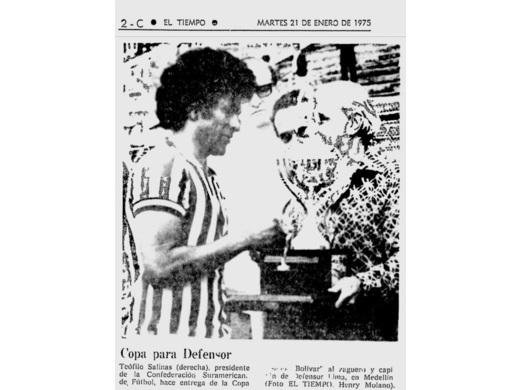 Campeón Copa Simón Bolívar 1974.
