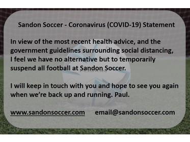 Sandon Soccer - Temporary Closure