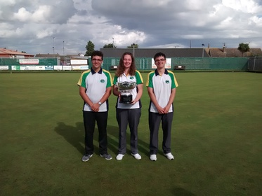 Dominic Cook, Connie Dowe & Robert Brooks with the John Vince Cup