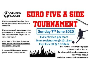 Euro Summer Tournament on Sunday 7th June