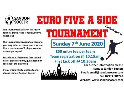 'Euro Summer Tournament' on Sunday 7th June