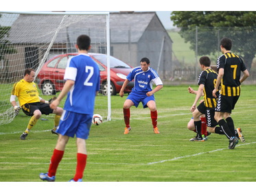 Chris Simpson scores for Rovers in Heddle Cup semi