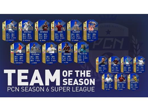 Season 6 Super League Team of the Season