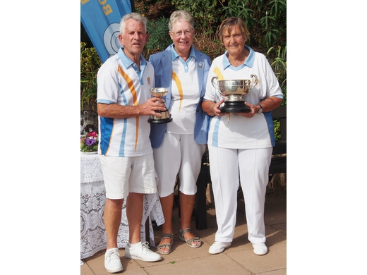 Graham Cottey and Jean Rainton - Mixed Pairs Winners