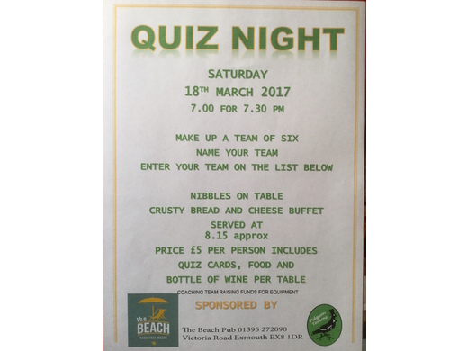 QUIZ NIGHT with buffet