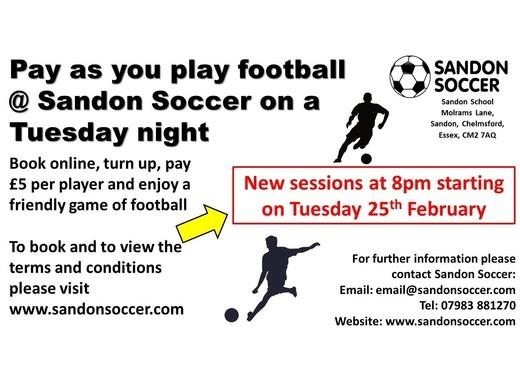 Sandon Soccer Pay As You Play
