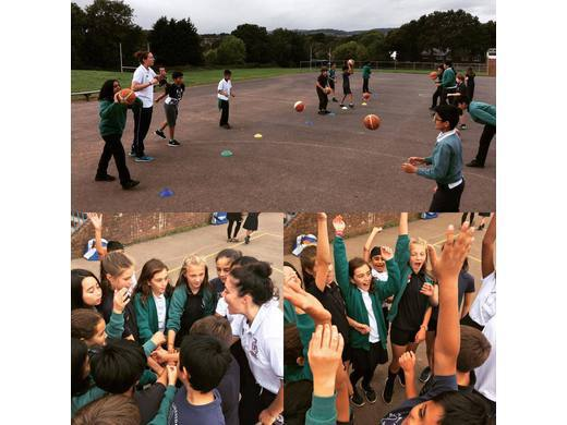 WBBL visit to local school