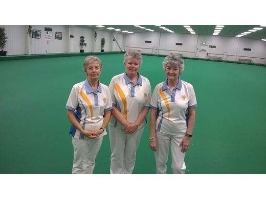 County triples winners - Jan Roberts; Janine Orchard & Catherine King
