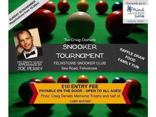 Craig Daniels Snooker Tournament - Felixstowe, November 25 2018