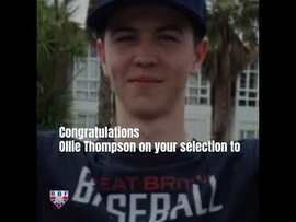 Congratulations Ollie Thompson