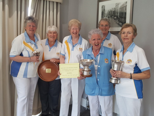 Madeira Ladies with their County trophies