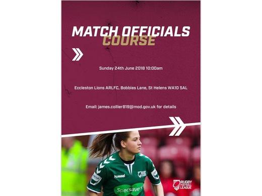 Match Officials course