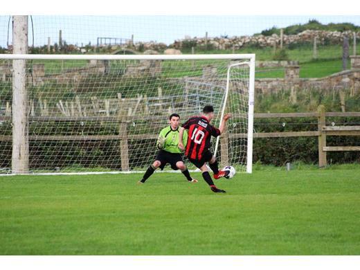 Iorras Aontaithe's Ryan Ruddy scored 4 goals in their 9-1 win over Swinford
