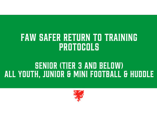 FAW announce phased return of football has entered Phase 2.
