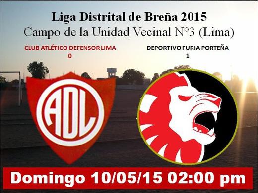 Defensor Lima 0 Furia Porteña 1