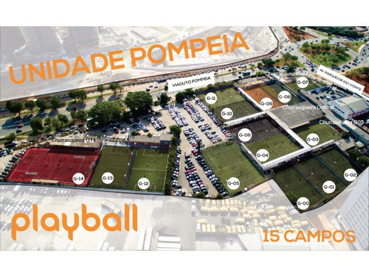 Mapa das quadras Playball