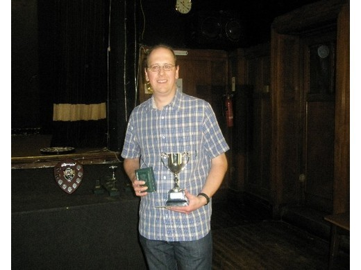 2008/9 Singles Runner Up - Jason Bradshaw
