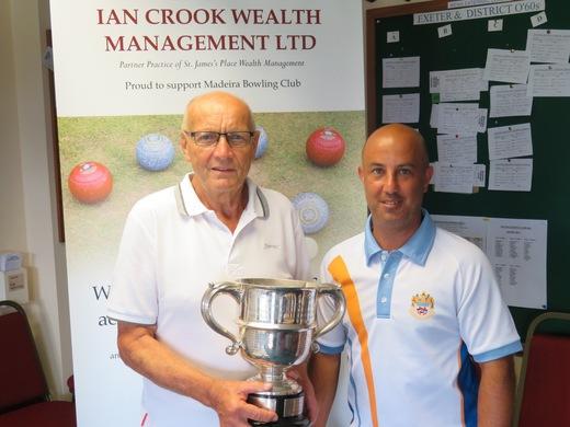 Alan Smith & Mark Perrott - Men's Singles finalists