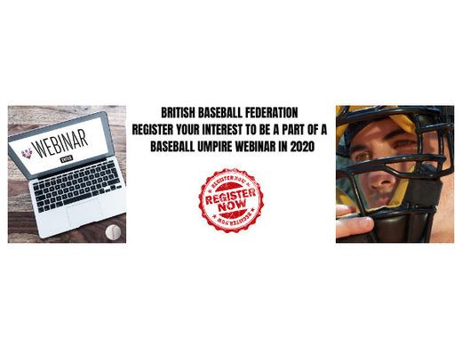 Register to attend a baseball umpire webinar