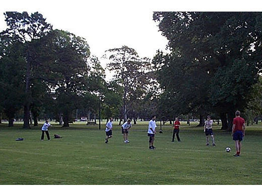 ArchiSoccer being played in Fawkner Park 2003