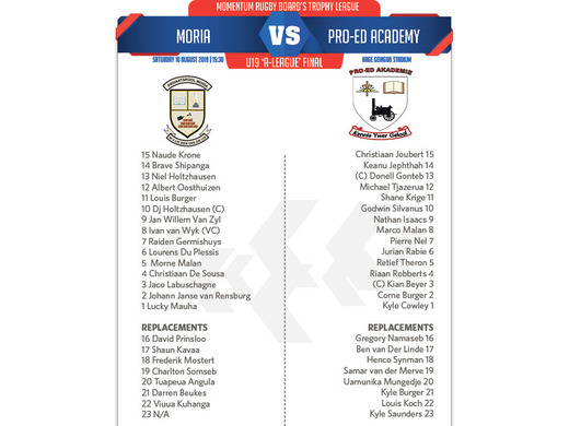 U19A Moria vs. Pro-Ed