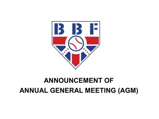 Announcement of the Annual General Meeting (AGM) of the British Baseball Federation (BBF)