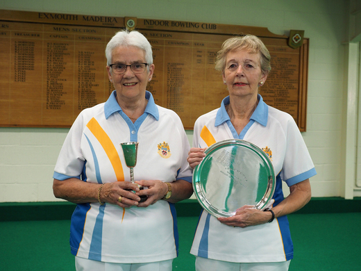 Jill Perrin & Jan Roberts - Runner-up and Champion in Grace Mathews Two wood Sin