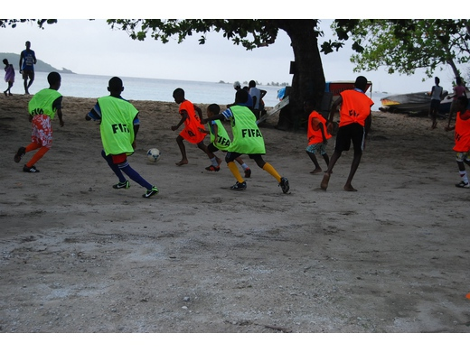Grassroots Beach Soccer Football in Carriacou