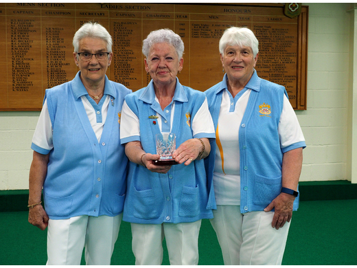 Jill Perrin; Joy Penberthy & Deirdre Norman - Ladies Triples Runners -up