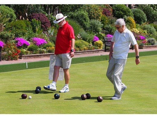 We're back bowling as our greens are open