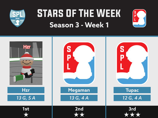 Open Division 3 Stars - Week 1