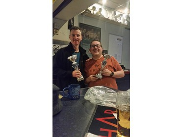 Winter 15/16 Division 3 Champion Dave (left) & Division 2 Champion Keith (right)