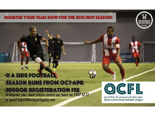 Register your team now for the new season