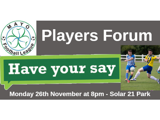Mayo Football League Players Forum