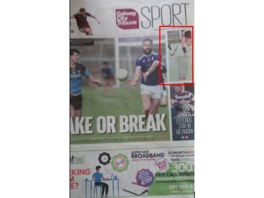 Galway City Tribune Article